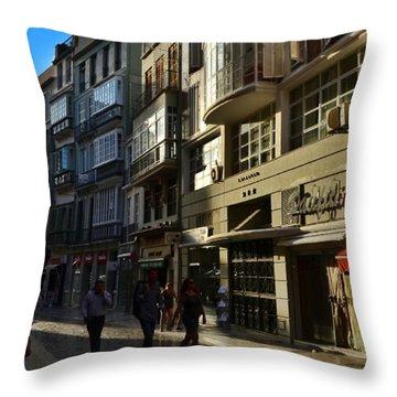 Por Las Calles Del Centro De #malaga Throw Pillow