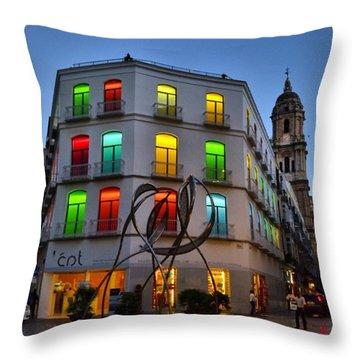 Por Las Calles Del Centro Historico De Throw Pillow