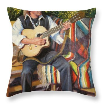 Throw Pillow featuring the painting Por Tu Amor by Donelli  DiMaria