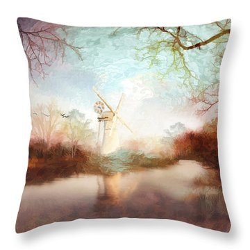 Porcelain Skies Throw Pillow