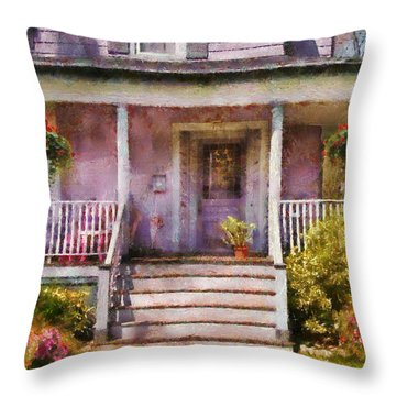 Porch - Cranford Nj - Grandmotherly Love Throw Pillow by Mike Savad