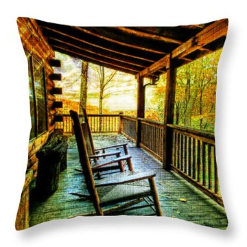 Porch Front Throw Pillow