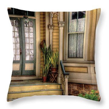 Porch - House 109 Throw Pillow by Mike Savad