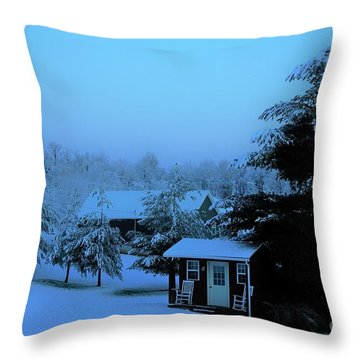 Porch Setting, Not Today Throw Pillow