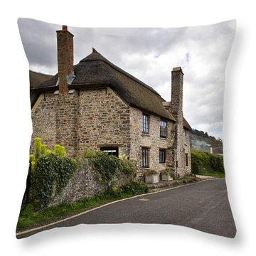 Porlock Weir Throw Pillow by Shirley Mitchell
