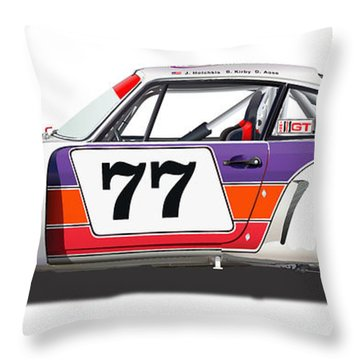 Porsche 1977 Rsr Illustration Throw Pillow