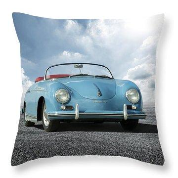 Throw Pillow featuring the digital art Porsche 356 Speedster by Peter Chilelli