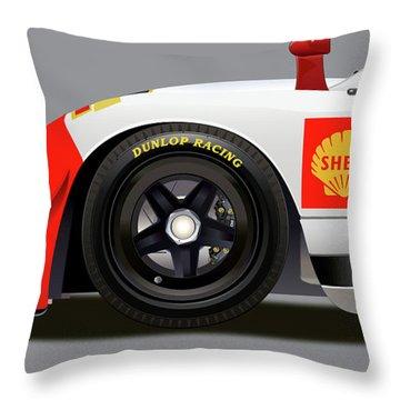 Porsche 908 Detail Illustration Throw Pillow