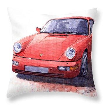 Porsche 911 Carrera 2 1990 Throw Pillow