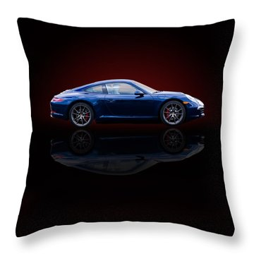Porsche 911 Carrera - Blue Throw Pillow