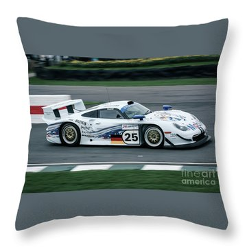 Porsche 911 Gt1 Strassenversion Throw Pillow