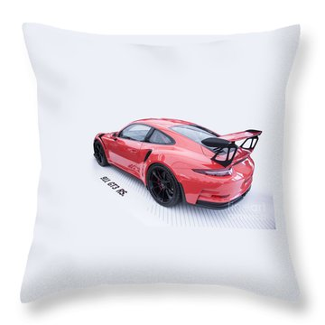 Porsche 911 Gt3 Rs Throw Pillow