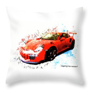 Porsche 911 Gts Throw Pillow