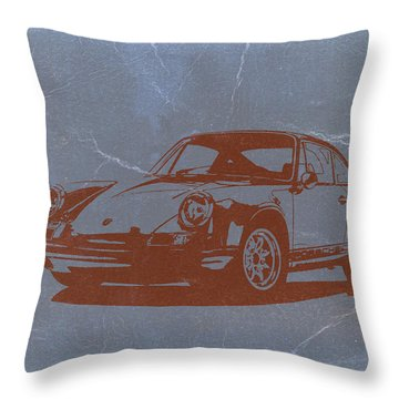 Porsche 911 Throw Pillow