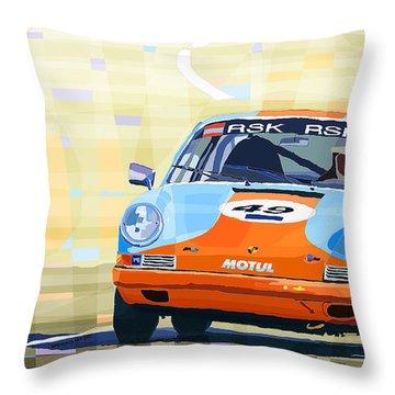Porsche 911 S  Classic Le Mans 24  Throw Pillow