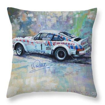 Porsche 911 Sc  Rallye Sanremo 1981 Throw Pillow