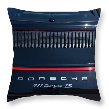 Porsche 911 Targa 4s Throw Pillow