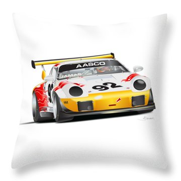 Porsche 911 Turbo Custom Throw Pillow