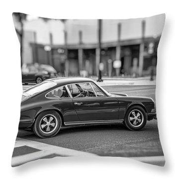 Porsche 911e Throw Pillow by Howard Salmon
