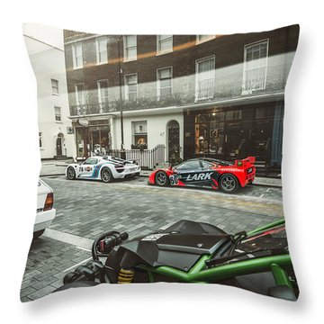 Porsche 918 Mclaren F1 Gtr Ferrari Specialea Ariel Nomad And Lancia Delta Integrale Throw Pillow
