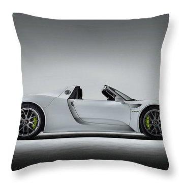 Porsche 918 Spyder Throw Pillow