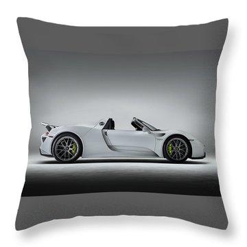 Porsche 918 Spyder Throw Pillow by Douglas Pittman