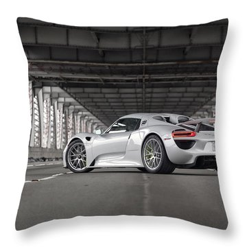 Porsche 918 Spyder Throw Pillow