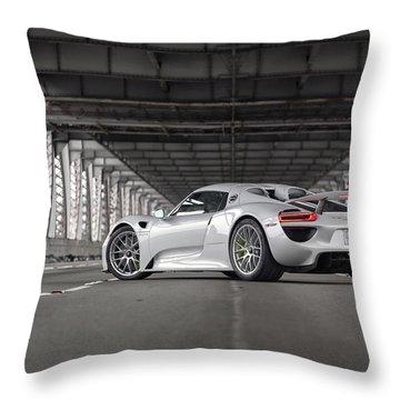Throw Pillow featuring the photograph Porsche 918 Spyder by ItzKirb Photography