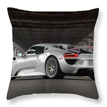 Throw Pillow featuring the photograph #porsche #918spyder #print by ItzKirb Photography