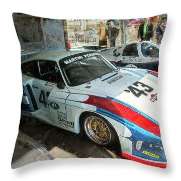 Porsche 935 Moby Dick Throw Pillow