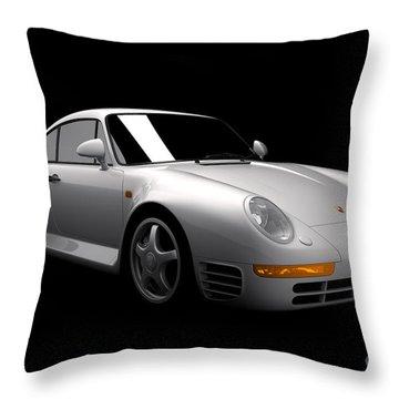 Porsche 959 Throw Pillow
