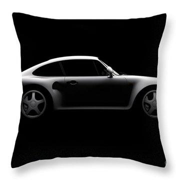 Porsche 959 - Side View Throw Pillow
