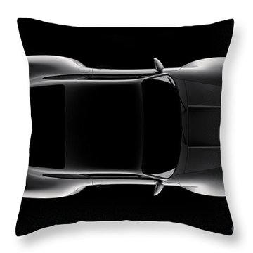 Porsche 959 - Top View Throw Pillow