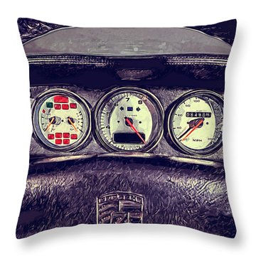 Porsche 993 Turbo Dashboard Throw Pillow