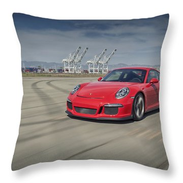 Porsche 991 Gt3 Throw Pillow