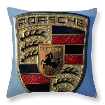 Porsche Badge Throw Pillow