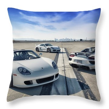 #porsche #carreragt,  #918spyder,  #cayman #gt4 Throw Pillow