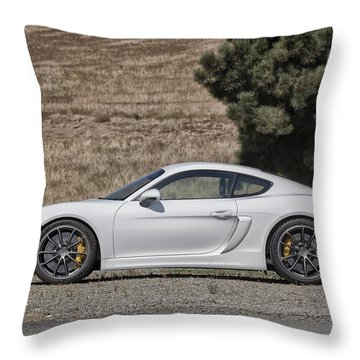 Throw Pillow featuring the photograph Porsche Cayman Gt4 Side Profile by ItzKirb Photography