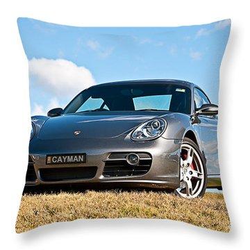 Porsche Cayman Throw Pillow