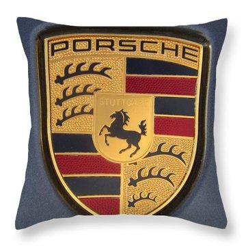 Porsche Emblem Throw Pillow by Lingfai Leung