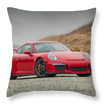 Porsche 991 Gt3 Throw Pillow