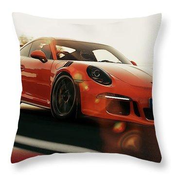 Porsche Gt3 Rs - 4 Throw Pillow