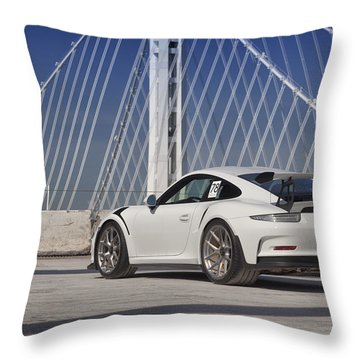 Porsche Gt3rs Throw Pillow