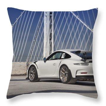 Porsche Gt3rs Throw Pillow