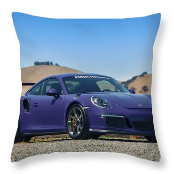 #porsche #gt3rs #ultraviolet Throw Pillow