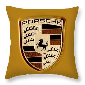 Porsche Oil Paint Filter 121615 Throw Pillow