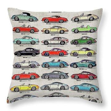 Porsche Poster Throw Pillow