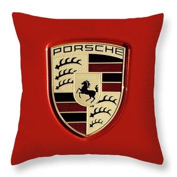 Porsche Power Red 111216 Throw Pillow
