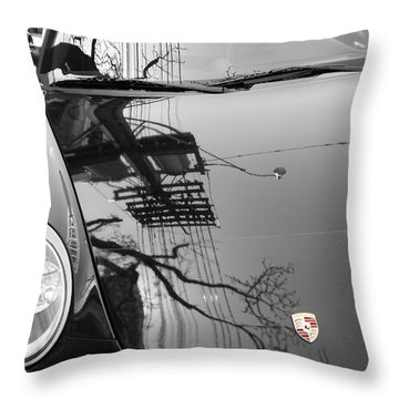 Porsche Reflections Throw Pillow
