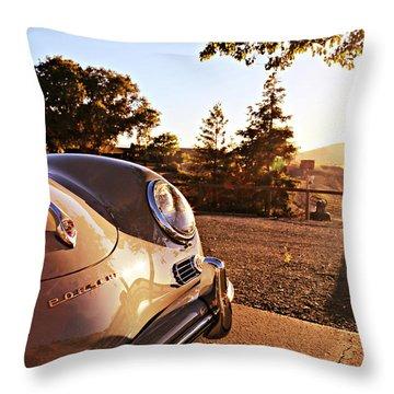 Porsche Sundown Throw Pillow
